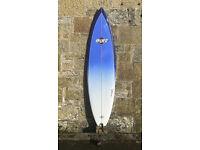SHIPPING Bilbo Surfboard 7'0 45L, SET, Thruster, Epoxy, mid-length, leash, bag