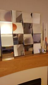 Medium sized decorative mirror. Funky mirror.