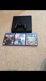PS4 SLIM 5months old with 3 games