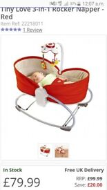 3 in 1 rocking napper/bouncher chair