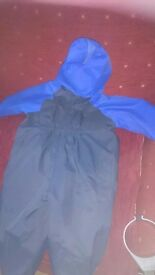 Kids/boys togz waterproof all in one all weather suit