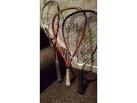 Squash Rackets and Racketball Rackets