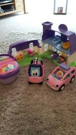 Toys house and cars