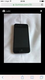 iPhone 4s black 8gb mint condition