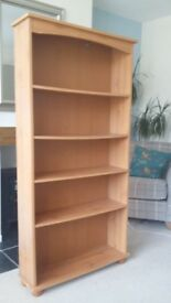 BOOKCASE - oak effect - six shelves - ideal for study/office/living room/bedroom - must sell