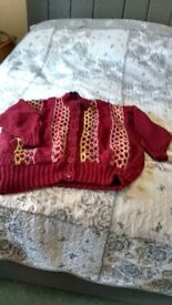 Ladies cardigan/jacket hand knit