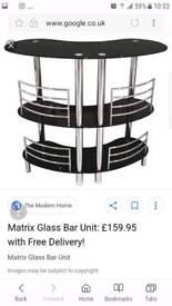 Black glass bar new