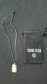 TAKE THAT PENDANT & BLACK THONG WITH POUCH FROM THE 1990s