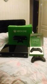 XBoxONE, NEW used once, 2 controllers , 1 game fifa15, head set, all wires