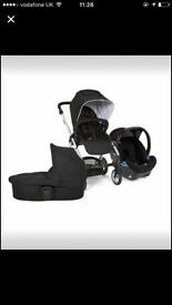 Mamas and papas urbo pram with car seat and carry cot