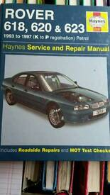 Haynes Manual For Rover 618, 620, 623 1993-97