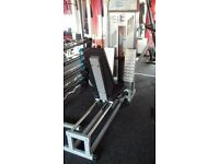 Seated leg press commercial quality. £325 Salter. heavy stack . good condition.