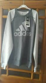 Brand new still with tags adidas crew neck sweater size small man