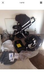 Chicco urban travel system, pushchair, car seat, isofix base