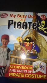 Pirate fancy dress and book