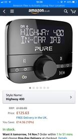 Pure Highway 400 In-car DAB with FM Digital Audio Adapter with Bluetooth