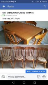 Table and 4 chairs. Lovely condition.