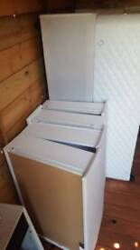 Double bed base with 4 draws/ white.