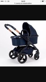 Icandy midnight edition with matching car seat and all adapters vgc comes with fur hood