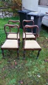 Set 4 Victorian chairs