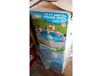 10ft metal frame swimming pool