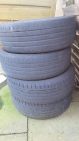 """4 x 215/55/18 90V Continental """"Conti Premium Contact 2"""" Tyres £80 for all 4!!!!"""