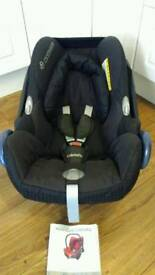 Maxi Cosi Cabriofix car seat, goes on lots of pram, pushchairs making travel systems