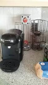 Bosch Tassimo coffee machine and pod racks
