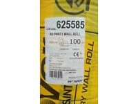 1 x Isover 625585 Acoustic RD Party Wall Roll 100mm (5.46m2) 6000 x 910 x 100mm