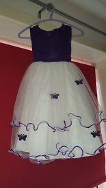 Cadbury purple butterfly flower girl dress