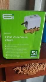 Job lot 2 zone port valve 22mm