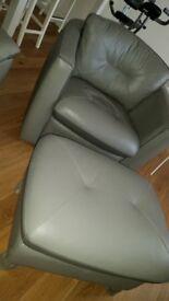 3 seater sofa, swivel chair, stool/pouffe
