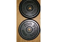 2x10kg metal plates