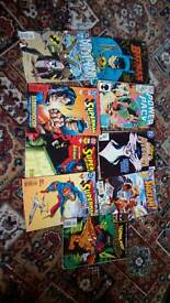 8 Marvel comics plus 1 batman graphic novel