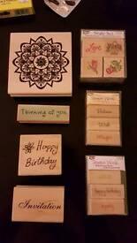 Rubber stamps bundle - card making