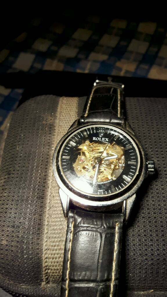 Rolex skeleton self winding watch treat yourself for Christmas