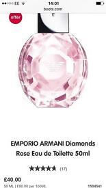 Armani Diamonds 50ml , Thierry Mugler 25ml, Narcisso Rodriguez 50ml, Carolina Herrera 50ml