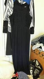 LONG BLACK DRESS G21 SIZE 10/12