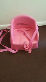 Booster seat for table pink