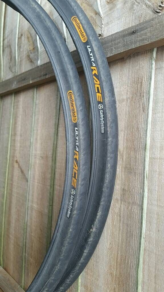 Continental Ultra race road bike tyres in a very good condition 700x25Cin Loughborough, LeicestershireGumtree - Continental Ultra race road bike tyres in good condition 700x25CThe reason I sell it I have changed them for all terrain tyresRRP £25/pcs£30 ono