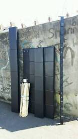 Ikea Black Faux Leather Double Bed with Clean Mattress