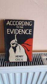 Signed book by henry cecil, first edition