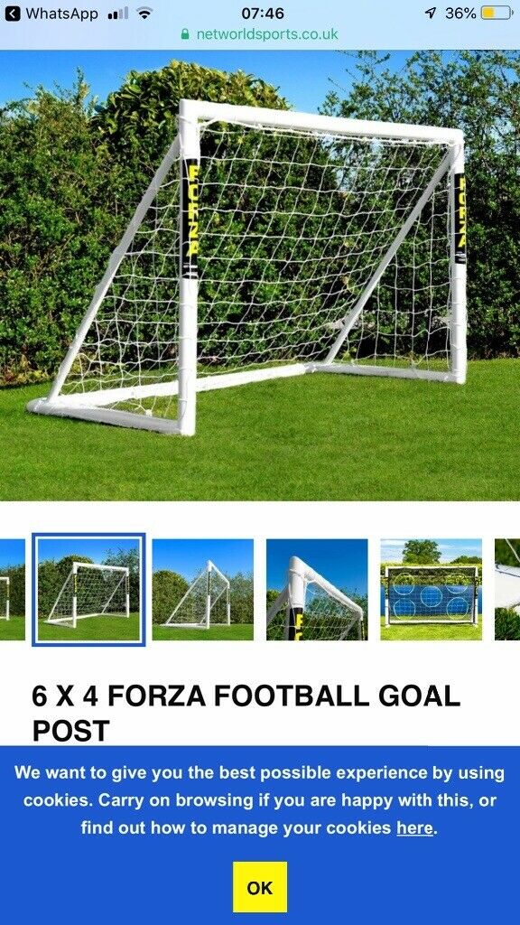 9318a74d3 Forza football goals 6ft x4ft used and dismantled | in Cramond ...