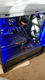 Gaming PC with RGB Case Lighting, Water-Cooled, Windows 10, VR Ready