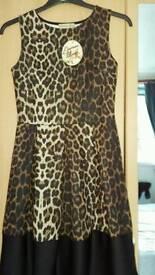 Animal print dress new