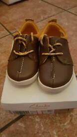 Clarks First Shoes. Brown Infant Size 6F