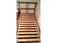 Single solid pine bed frame Ikea