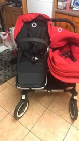 Bugaboo donkey duo red in colour 8 months old