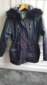 Girls Navy Parka Jacket Size 13 Years