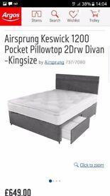 Kingsize kewick divan & matress
